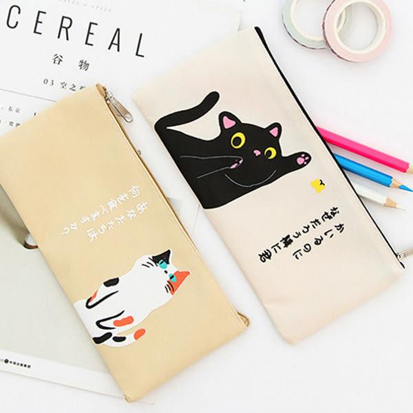 【BlueCat】日文物語貓咪的生活帆布筆袋 鉛筆盒