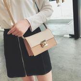 時尚小包包女新款潮鎖扣單肩包韓版百搭斜挎包個性爆款小方包 IV2360【極致男人】