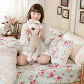 床包 / 雙人特大【玫瑰粉格】含兩件枕套  100%精梳棉  戀家小舖台灣製AAS501