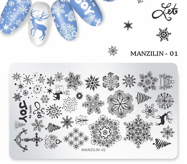 聖誕節長方型美甲印花鋼板 指甲油印花膜版 Nails Mall