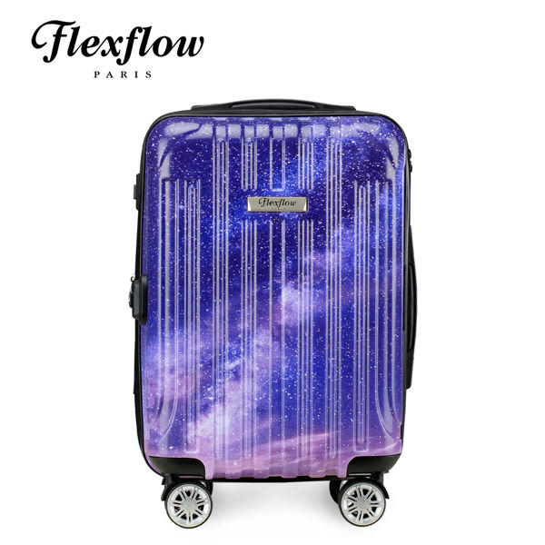 Flexflow 里爾系列 法國精品智能秤重 璀璨星空 19吋 防爆拉鍊 容量可加大 旅行箱 行李箱 登機箱