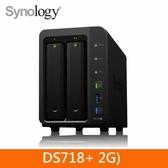 Synology DS718+ 2Bay 網路儲存伺服器