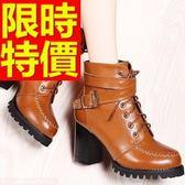 真皮短靴-甜美俏麗時尚高跟女靴子2色62d3[巴黎精品]