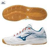 MIZUNO SKY BLASTER 2 男鞋 女鞋 羽球 手球 橡膠 耐磨 止滑 白藍橘【運動世界】71GA204526