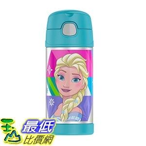 [7美國直購] 保溫瓶 Funtainer 12 Ounce Bottle Stainless Steel Cold Straw Kids Children Frozen Aqua