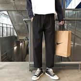 春季褲子男寬鬆百搭西褲直筒褲九分褲休閒西裝褲韓版潮流闊腿長褲 陽光好物