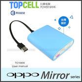 ★TopCell TC10400 行動電源/6500mAh/OPPO Mirror 3/Mirror 5S A51F
