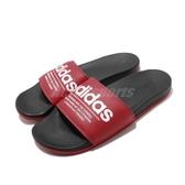 adidas 拖鞋 Adilette Comfort 紅 白 男鞋 涼拖鞋 運動拖鞋 【PUMP306】 FX4288