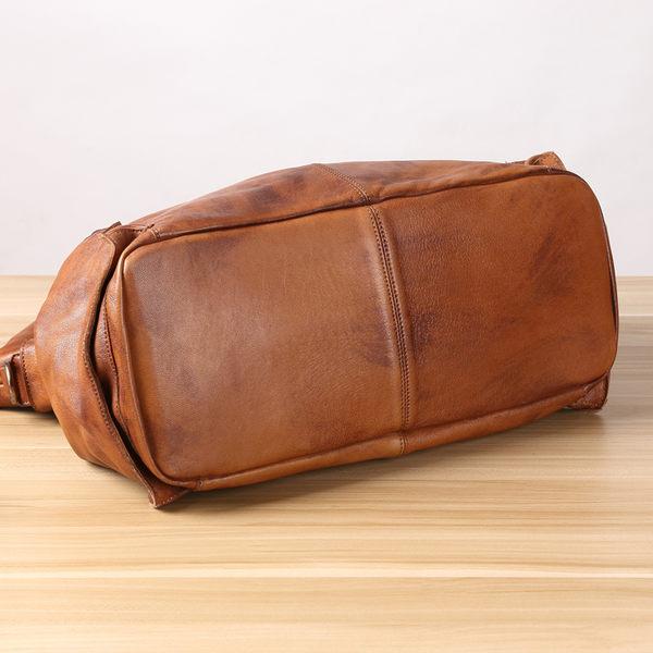 真皮特大肩背包 牛皮側背包 旅行包袋付背帶可拆 現貨+預購【Solomon 皮件設計】B10029