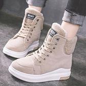 雪靴 冬季新款雪地靴女加絨加厚棉鞋學生保暖防滑女鞋短靴子馬丁靴【快速出貨】