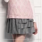 【ohoh-mini 孕婦裝】風潮甜心不對稱造型孕婦短裙