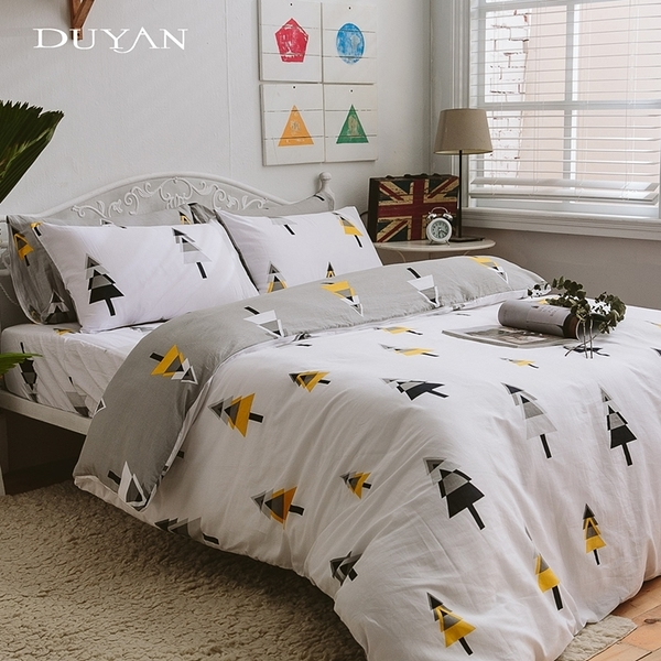 《DUYAN竹漾》100%精梳純棉單人床包被套三件組-北歐森林