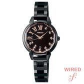WIRED 黑玫瑰金羅馬字鑽石切割鏡面黑鋼女錶 26mm 公司貨 7N82-0GM0SD AGET707 | 高雄名人鐘錶