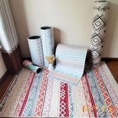 北歐長條客廳臥室滿鋪可愛床邊地毯進門地墊【倪醬小舖】