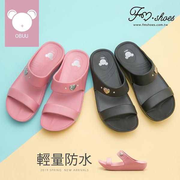 拖鞋.一字防水楔型拖鞋-FM時尚美鞋.Rainy