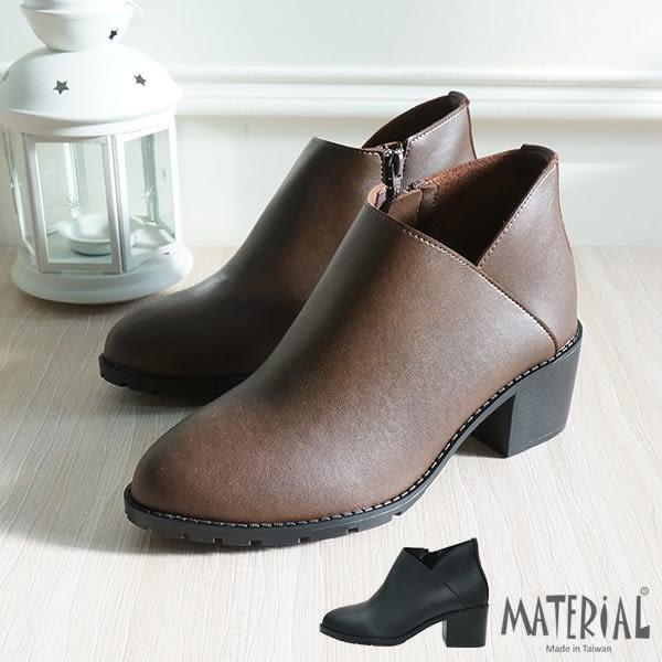 短靴 側邊小V開口短靴 MA女鞋 T5631