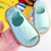 兒童鞋子 手工納底夏幼兒女童家居可愛防滑千層底嬰兒棉麻寶寶拖鞋 歐萊爾藝術館