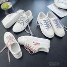 帆布鞋子女學生正正正韓原宿小白鞋夏季百搭板鞋女鞋 街頭布衣