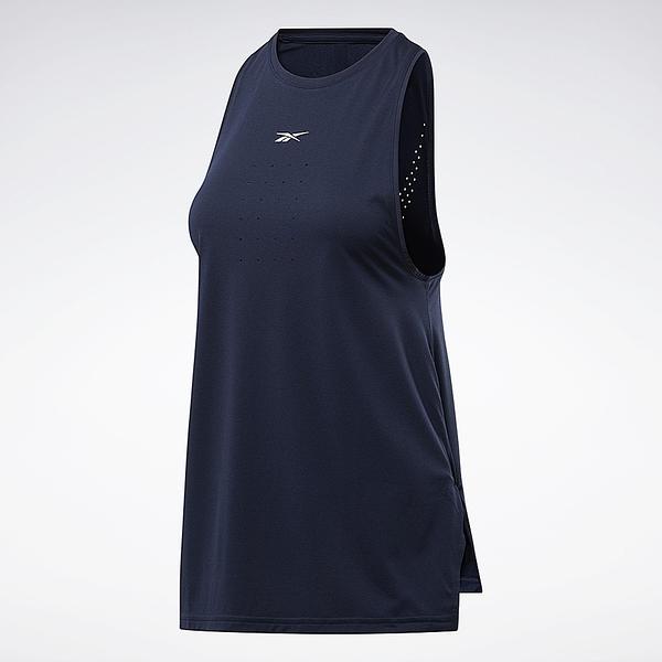 REEBOK 背心 FITNESS PERFORATED 深藍 訓練 健身 女 (布魯克林) FU2142