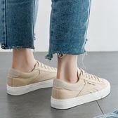 帆布鞋(休閒鞋) 簡約百搭帆布平底鞋女