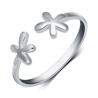 戒指 925純銀-可愛花朵生日情人節禮物女開口戒73dt596【時尚巴黎】