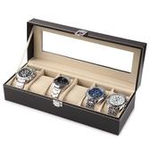 手錶收納盒開窗皮革首飾箱高檔手錶包裝整理盒擺地攤手錶盤手錶架