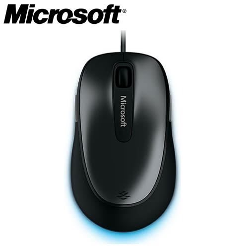 Microsoft 微軟 舒適 4500 有線滑鼠 黑【10/13-10/31促銷~現省$240】