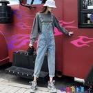 吊帶褲 牛仔背帶褲女直筒韓版寬鬆2021春秋季新款顯瘦修身小個子網紅洋氣新品