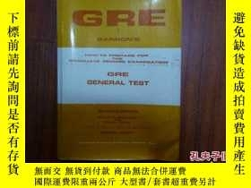 二手書博民逛書店GRE罕見Barron s How To Prepare Fo