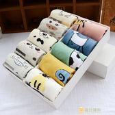 學院風女襪子棉質女士中筒襪正韓長版日系wz卡通動漫禮盒裝棉襪子一件免運