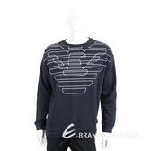 Emporio Armani 深藍色老鷹標誌抽繩質運動衫(男款) 1920703-34
