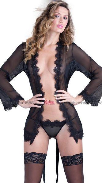 衣美姬♥歐美 新款薄紗蕾絲 情趣套裝 睡衣 情人節睡衣套裝 含內褲