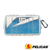 美國 PELICAN 派力肯 塘鵝 1060 Micro Case 微型防水氣密箱 透明 藍色 公司貨