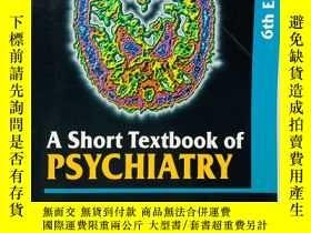 二手書博民逛書店A罕見Short Textbook of Psychiatry