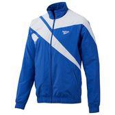 REEBOK ARCHIVE VECTOR TRACKTOP 男裝 外套 立領 風衣 休閒 舒適 透氣 白 藍【運動世界】EC5779