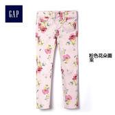 Gap女童 時尚舒適花朵圖案休閒褲 229594-粉色花朵圖案