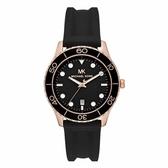 Michael Kors 休閒運動風時尚腕錶-黑-MK6852