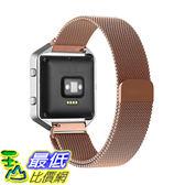 [美國直購] Oitom NS-FB0010 Milanese loop 玫瑰金/黑色 不鏽鋼 錶帶 Large (5.5 -6.7 吋) Strap for Fitbit Blaze