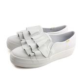 Keds TRIPLE RUFFLE 懶人鞋 厚底鞋 白色 女鞋 9183W132577 no295