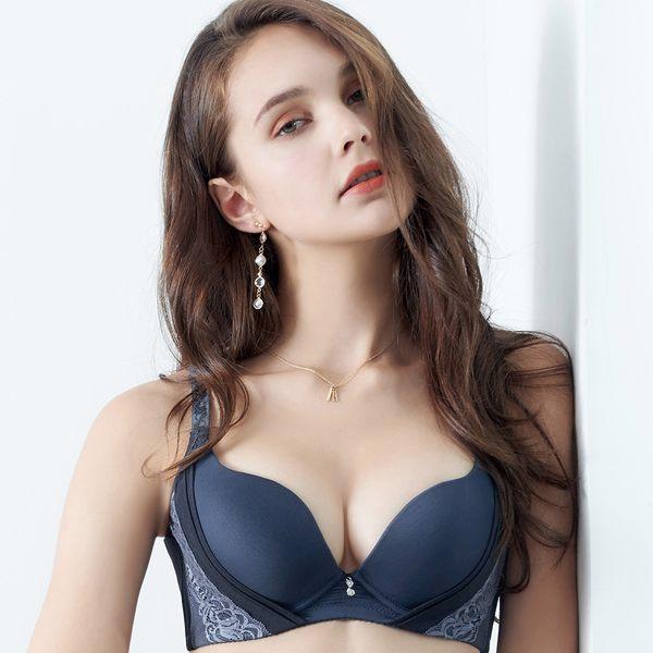 EASY SHOP-輕舞悸動 大罩杯B-E罩內衣(海灣藍)