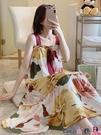 熱賣睡裙 莫代爾睡裙女夏季薄款吊帶加肥加大碼胖mm200斤女士睡衣裙子夏天 coco