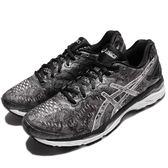 【六折特賣】Asics 慢跑鞋 Gel-Kayano 23 Lite-Show 黑 銀 白底 特殊圖騰 女鞋 夜跑專用【PUMP306】 T6A6N9793