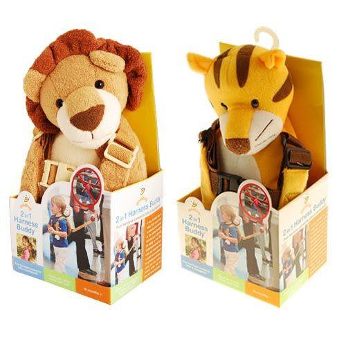 【奇買親子購物網】GOLDBUG 2 IN 1 HARNESS BUDDY 動物背包防走失帶-(老虎/獅子/牛/熊貓)