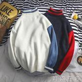 新款韓版ins初中半高領毛衣男中領青少年學生帥氣潮流個性  潮流衣舍
