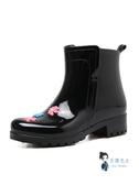 成人雨鞋 雨鞋女時尚款外穿韓版加絨女士膠鞋套鞋防水防滑成人高筒雨靴水鞋 3色 35-41