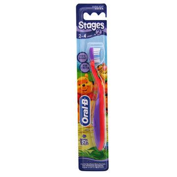 [仁仁保健藥妝] 歐樂B 迪士尼兒童牙刷2號