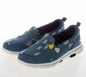 SKECHERS GOWALK 5 女款 藍色 休閒 透氣 健走鞋 124212DEN【KAORACER】
