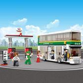 拼裝積木6歲以上男孩玩具益智拼插塑料雙層巴士系列模型