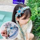 寶石髮箍+長辮子(粉/藍),萬聖節/尾牙...