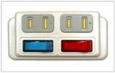 新竹【超人3C】攸遠 R-21C 分接式插座 2插座2開關 PC材質 突波吸收保護器 附防塵蓋 防雷